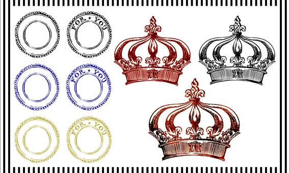 Antique material (crown etc.)