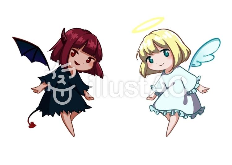 天使と悪魔イラスト No 1409616無料イラストならイラストac