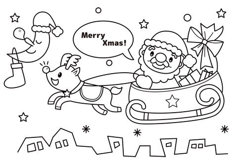 クリスマス ぬりえ