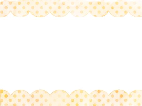 水彩圓點3圓形框架橙色