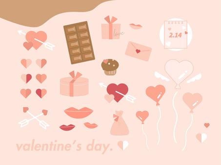 Valentine design material