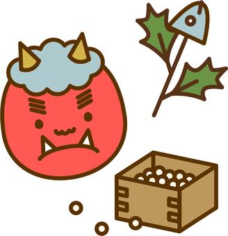 Setsubun Demons, Hiiri, Sardine and Fukuan