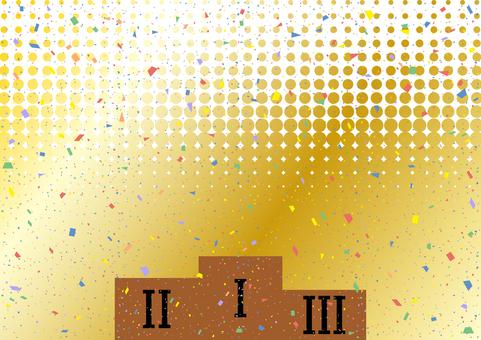 Podium confetti halftone background