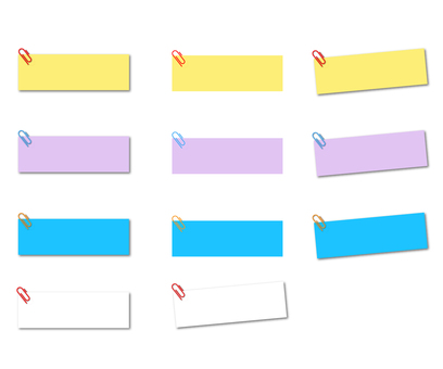 Sticky note banner with clip