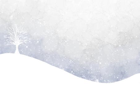 Watercolor snow scene
