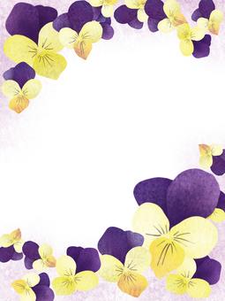 日本圖案三色紫羅蘭2
