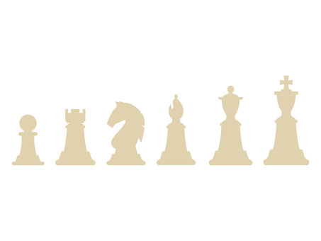 Chess piece all kinds set (white)