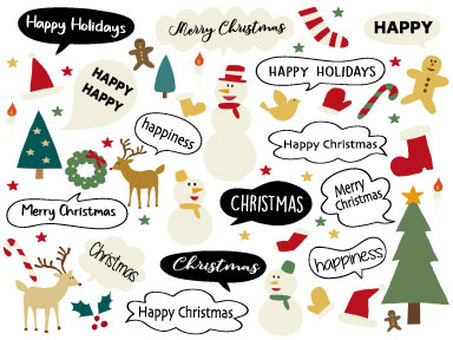 Christmas speech bubbles 01