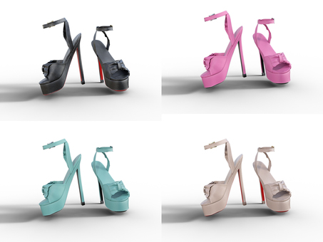 Thick bottom sandal heel 4 colors fashionable