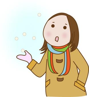 一個外套的女人