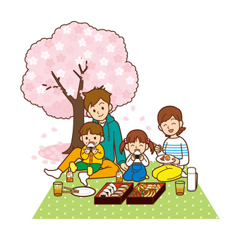Cherry-blossom viewing / family