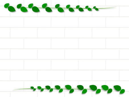 White brick and leaf background material
