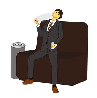 Male office worker taking a break