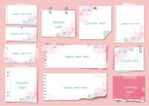 Sakura's memo pad
