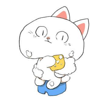 Hayabusuke who washes his body