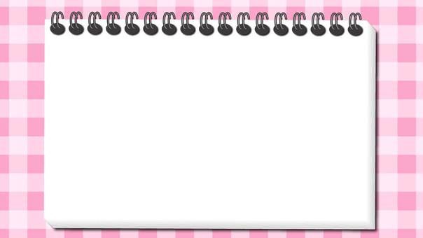 Pink Gingham Check and Notepad