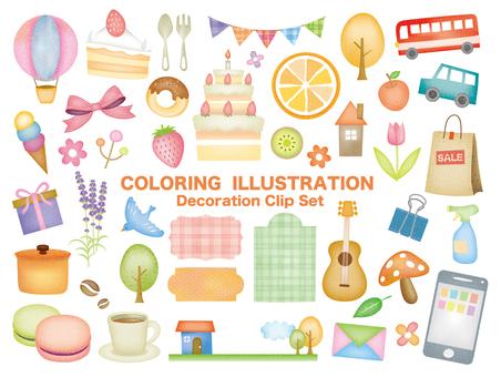 Ilustración que parece coloreada a mano