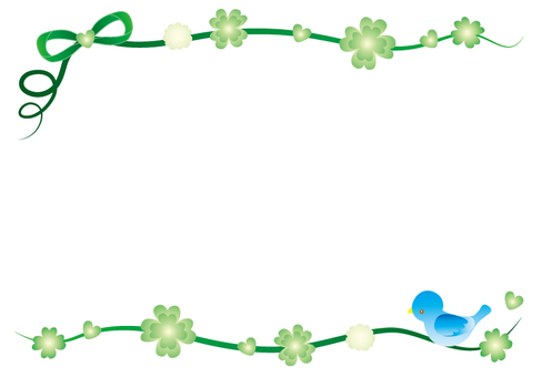 Four leaf clover and bird frame
