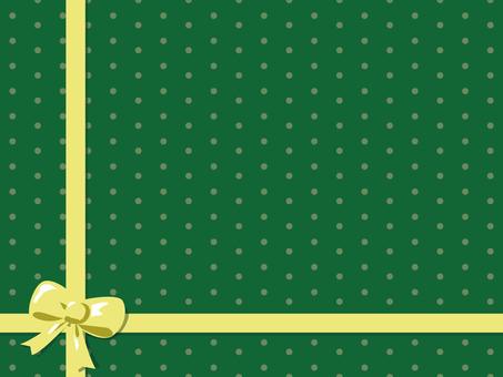 Green polka dots · ribbon