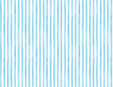 水彩風ストライプ背景_水色-白