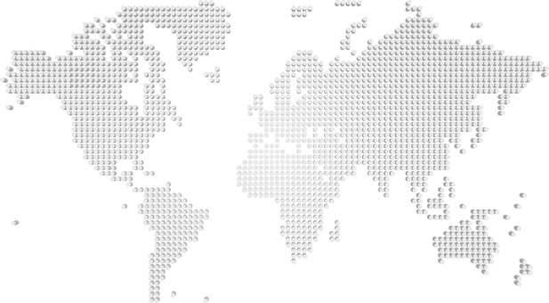 World Map Dot Simple Global Map