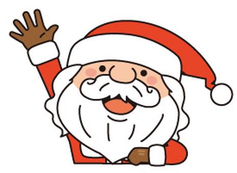 Waving a hand Santa Claus