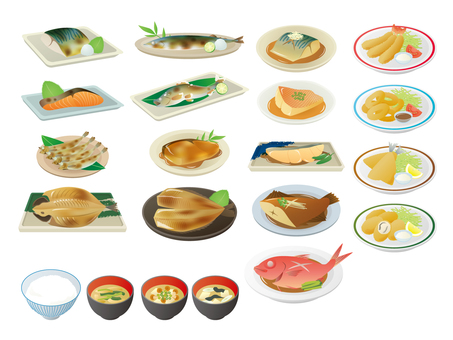 Various fish dishes