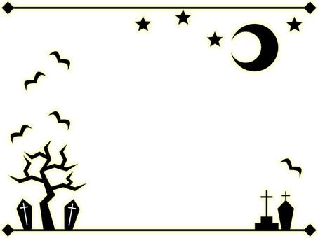 Halloween decorative frame 2 (black)