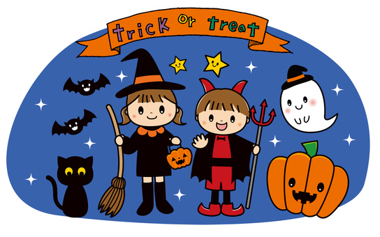 Halloween kids ghost cute