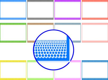 Simple polka dots frame frame 12 patterns