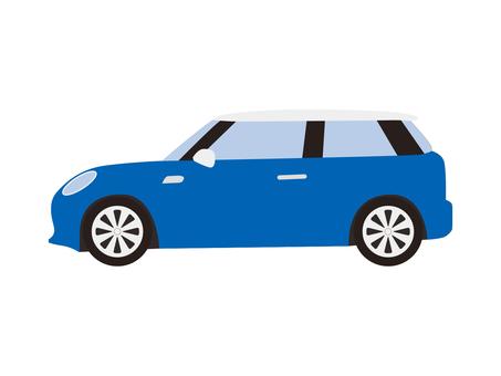 Compact car (blue)