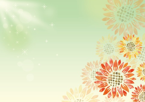 Watercolor sunflower background image