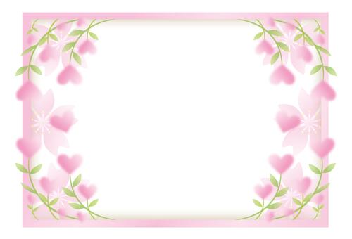 Heart blooms Flower frame 2