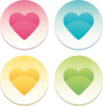 【Heart】 button a1