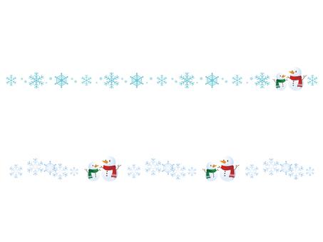 Snowman parent-child's line