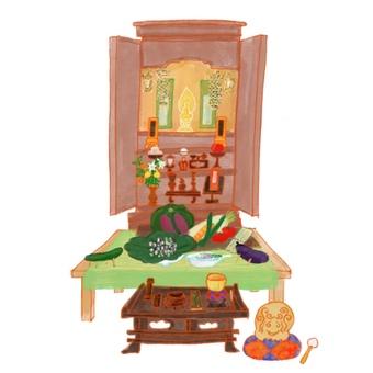 お盆飾り 仏壇