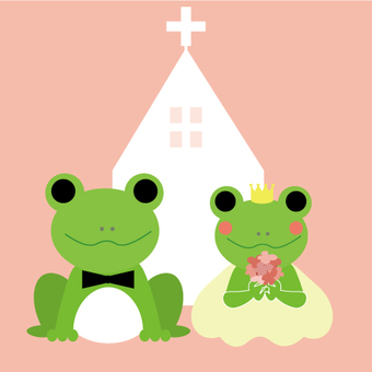 Frog's wedding (with church)