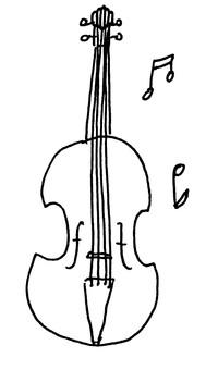 ヴァイオリン線画