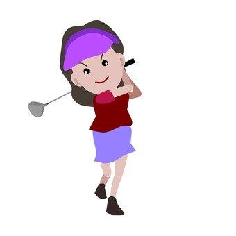 Women's golf player