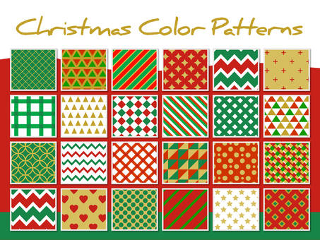 Christmas color pattern set