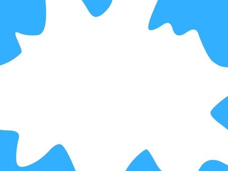 Light blue wave frame