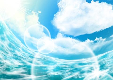海和夏天的天空