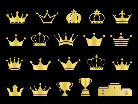 Crown set gold