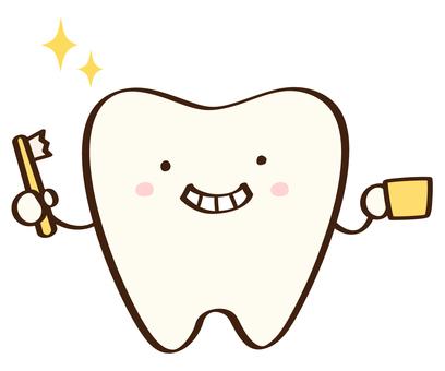 Tooth brush shiny