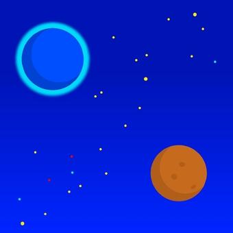 Starry sky planet