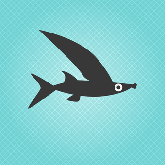 Business icon (flying fish)
