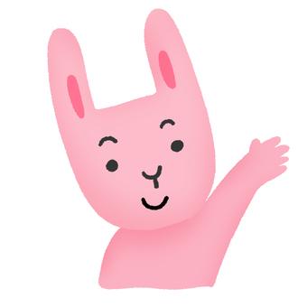손 흔들기 토끼