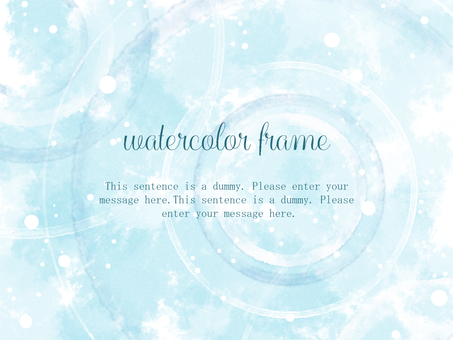 Rippled watercolor frame 01 / blue a