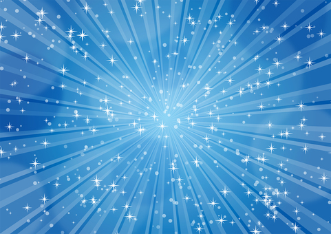 Glittery blue radiation