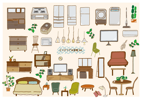 Furniture and home appliances set
